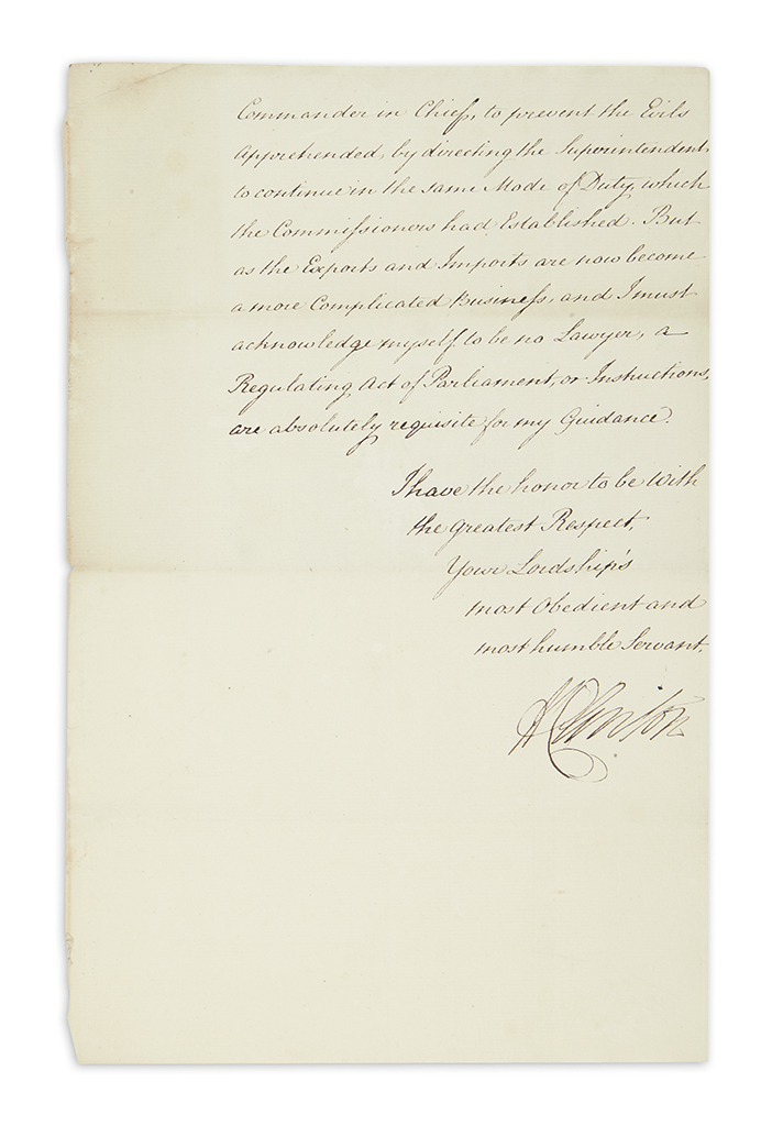 (AMERICAN-REVOLUTION)-CLINTON-HENRY-Letter-Signed-HClinton-as-Commander-in-Chief-to-Colonial-Secretary-George-Germain