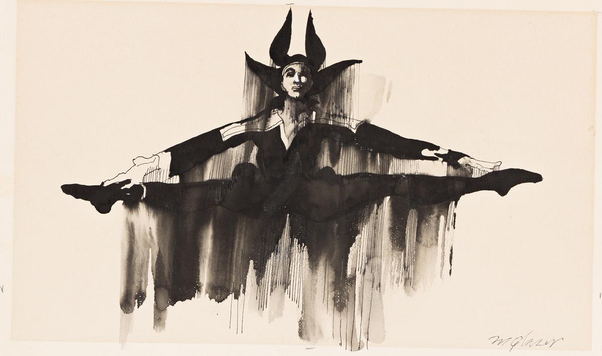 MILTON GLASER (1929-2020) Royal Danish Ballet. [THEATER / BALLET / CALENDAR / ADVERTISING / LINCOLN CENTER]