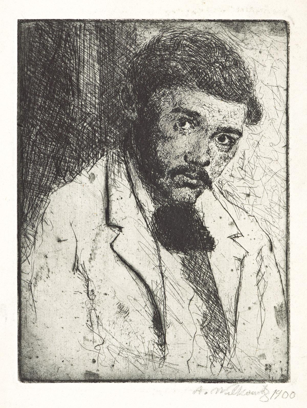 ABRAHAM WALKOWITZ (1878-1965) Self Portrait.