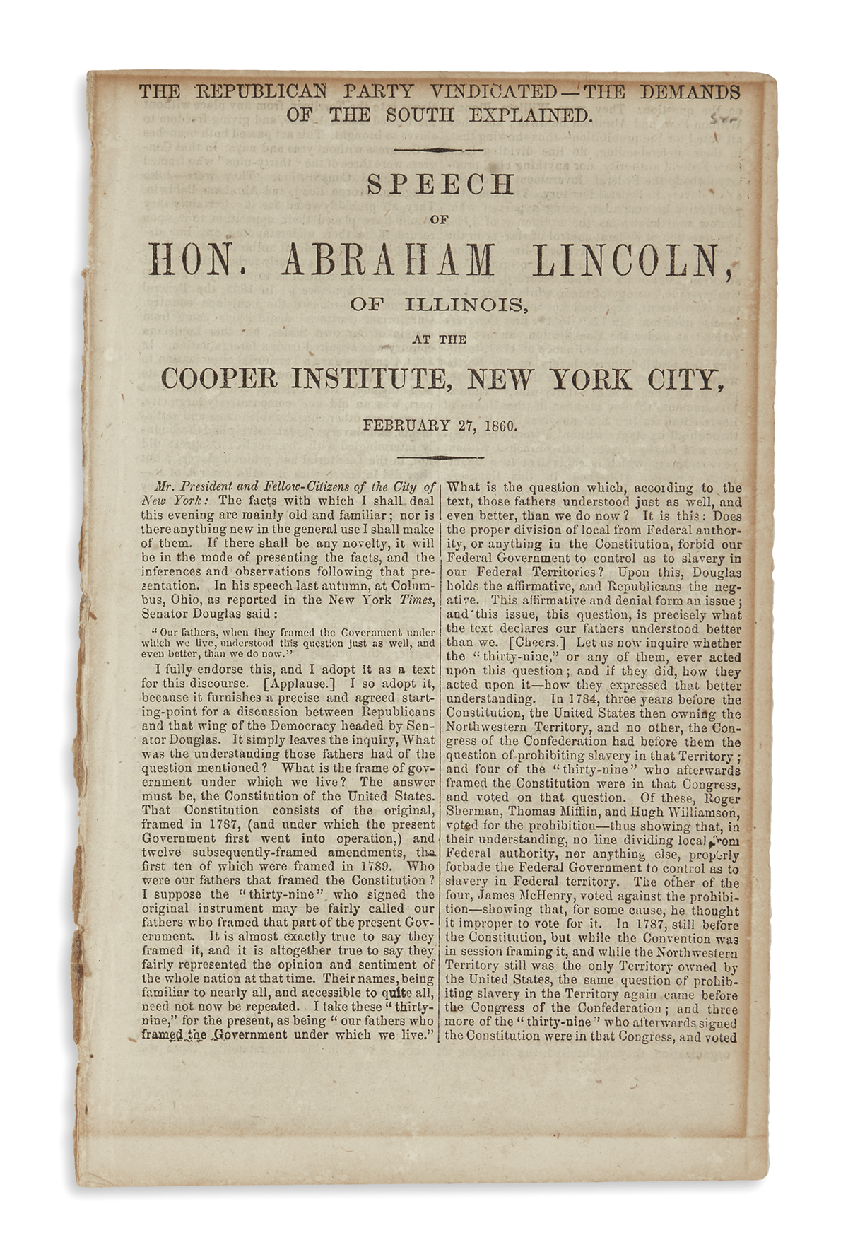 (BOOKS-AND-PAMPHLETS)-Lincoln-Abraham-The-Republican-Party-V