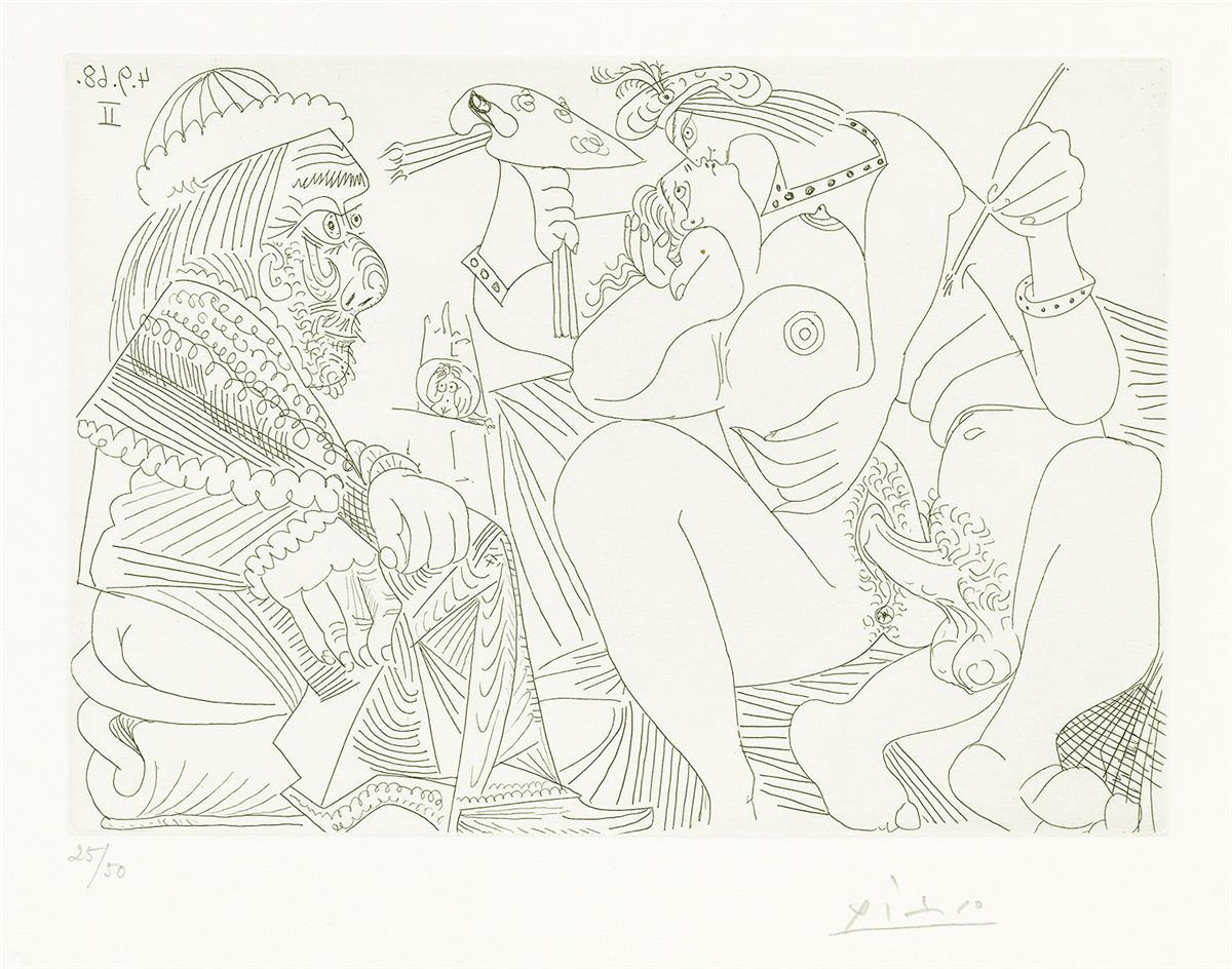 PABLO-PICASSO-Series-347310-(Raphael-et-la-Fornarina-XVI)