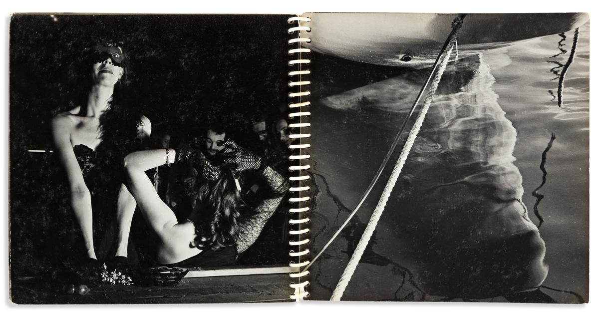 ED VAN DER ELSKEN (1925-1990) A rare, handmade personal album of 27 Parisian photographs.