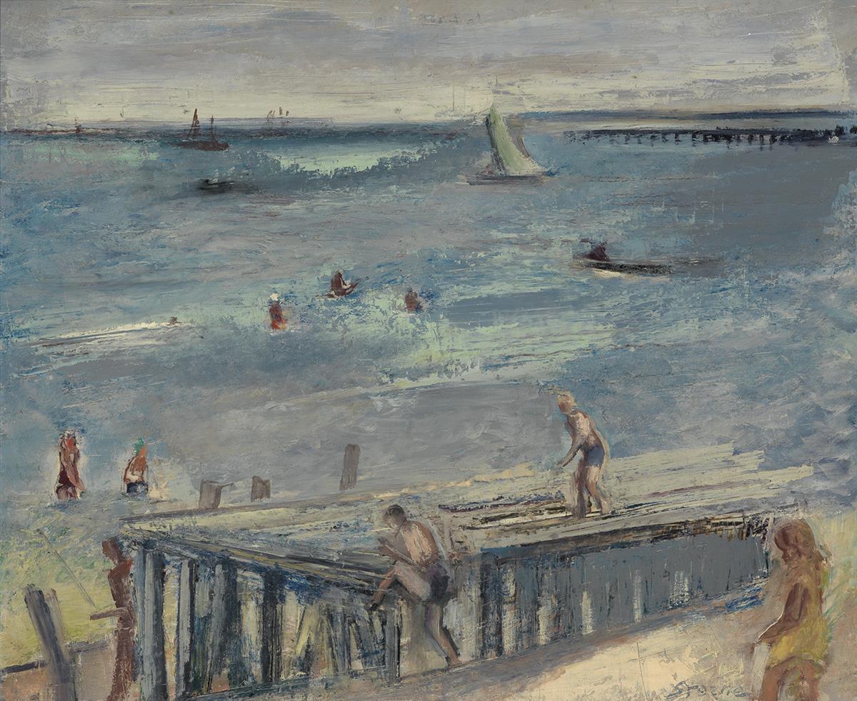 MAURICE-STERNE-Beach-Scene