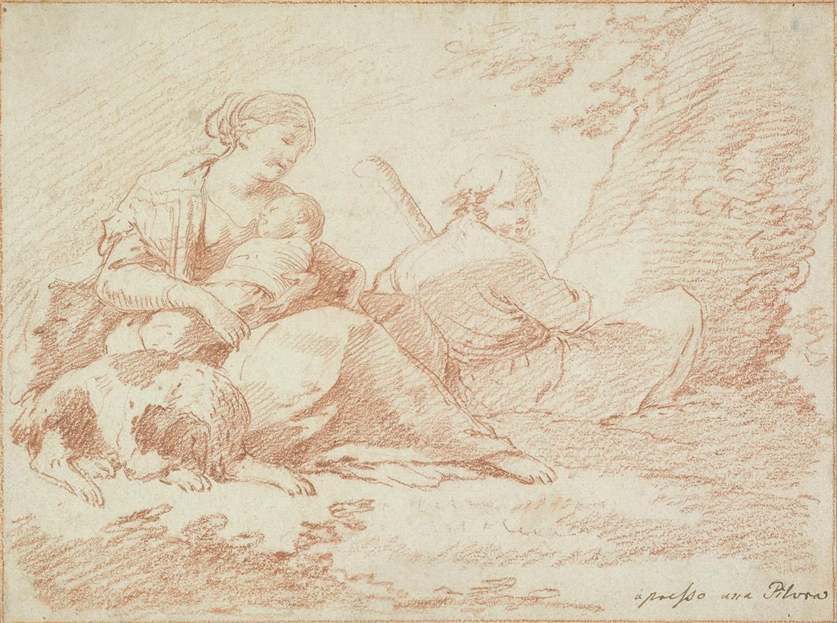 BOLOGNESE-SCHOOL-18TH-CENTURY-The-Rest-on-the-Flight-into-Eg