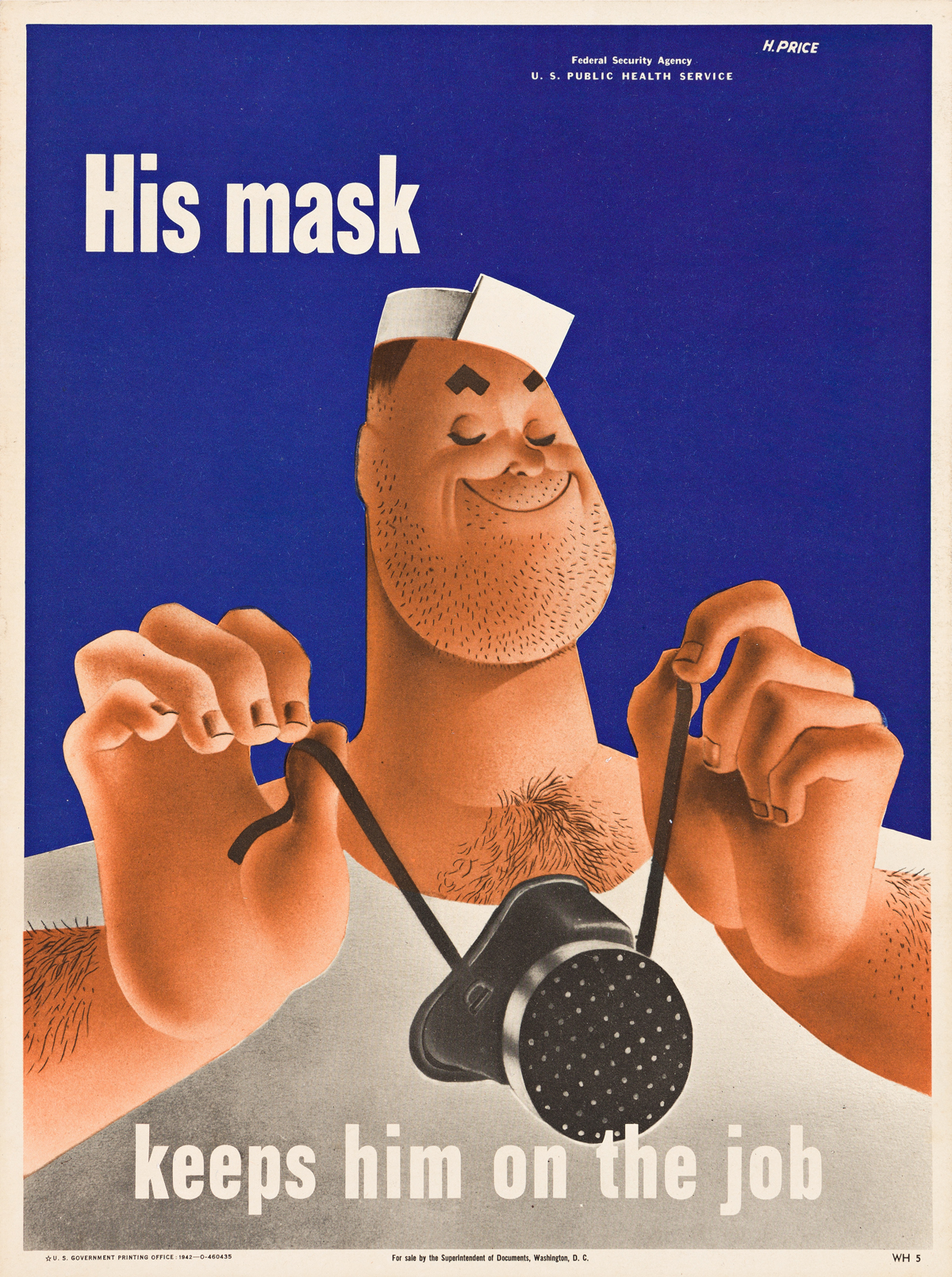 FERREE & H. PRICE (DATES UNKNOWN).  [UNITED HEALTH SERVICE & VD / WORLD WAR II.] Group of 5 small format posters. Circa 1942. Sizes var