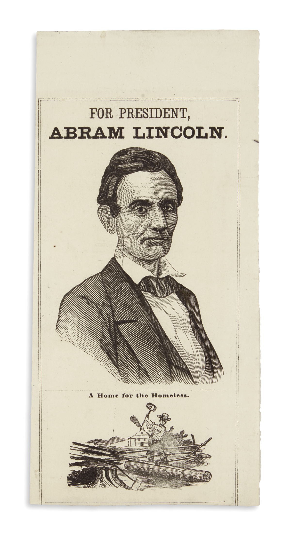 (PRINTS--1860-CAMPAIGN)-For-President-Abraham-Lincoln--A-Hom