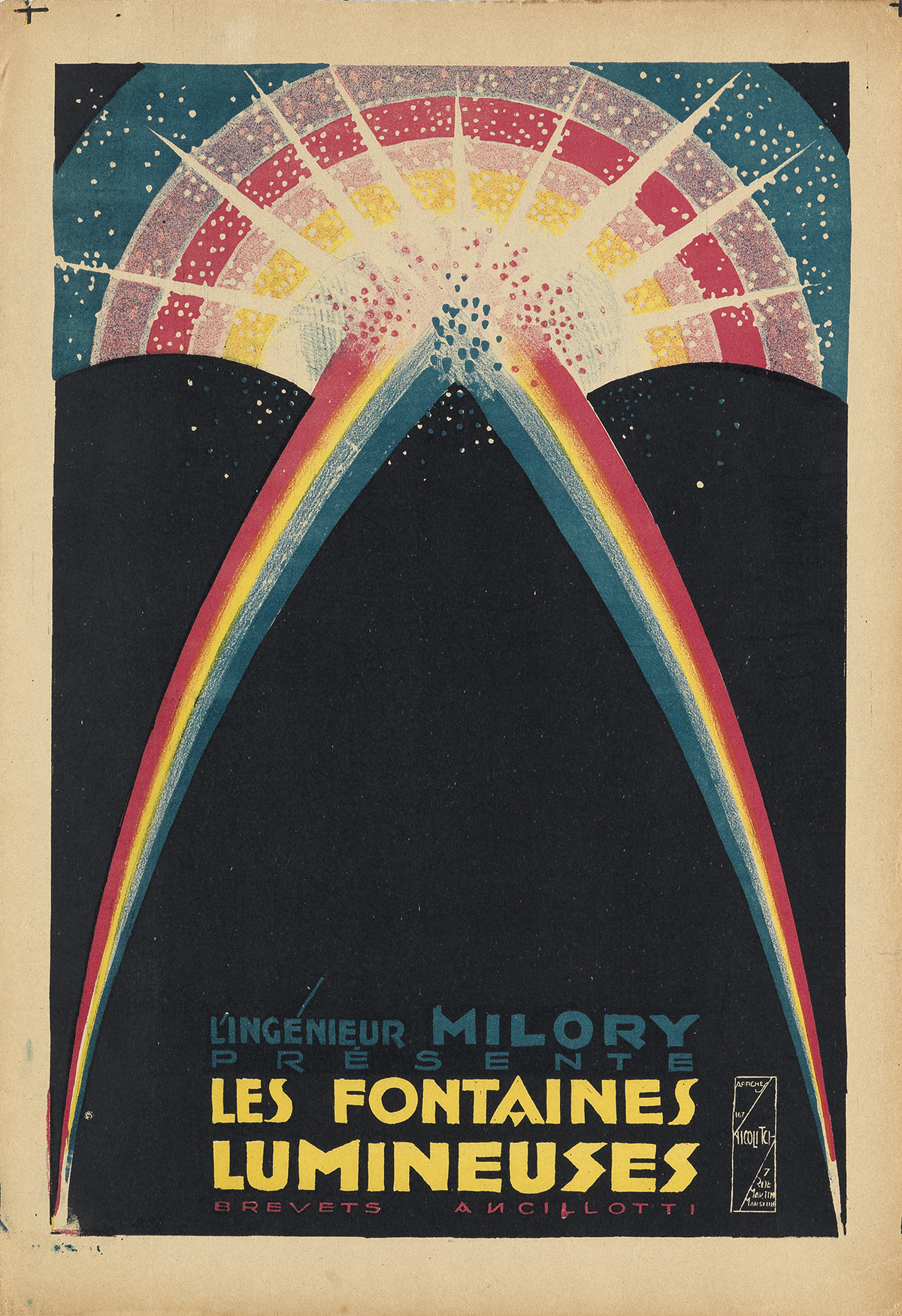 OBRAD-NICOLITCH-(1898-1976)-LES-FONTAINES-LUMINEUSES-Two-pos