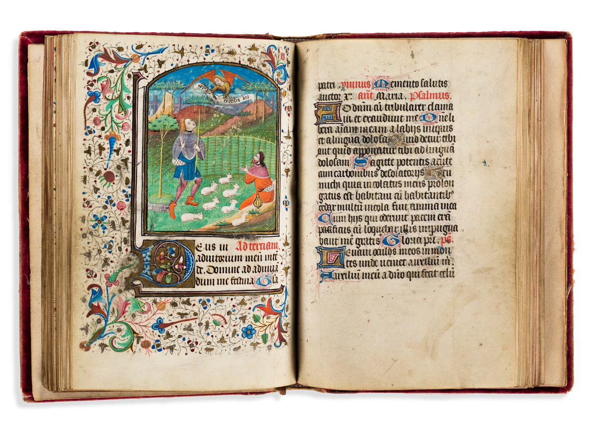 Book of Hours with Illuminated Miniatures. France, mid-15th century.