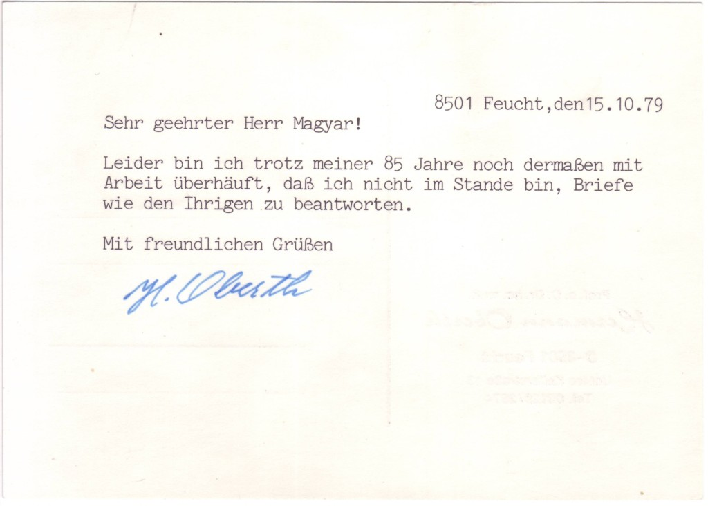 (SCIENTISTS)-OBERTH-HERMANN-Two-items-each-Signed-H-Oberth-e