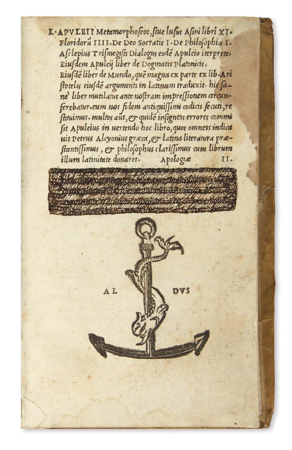 APULEIUS-Metamorphoseos-[and-other-texts]-1521-Lacks-the-las
