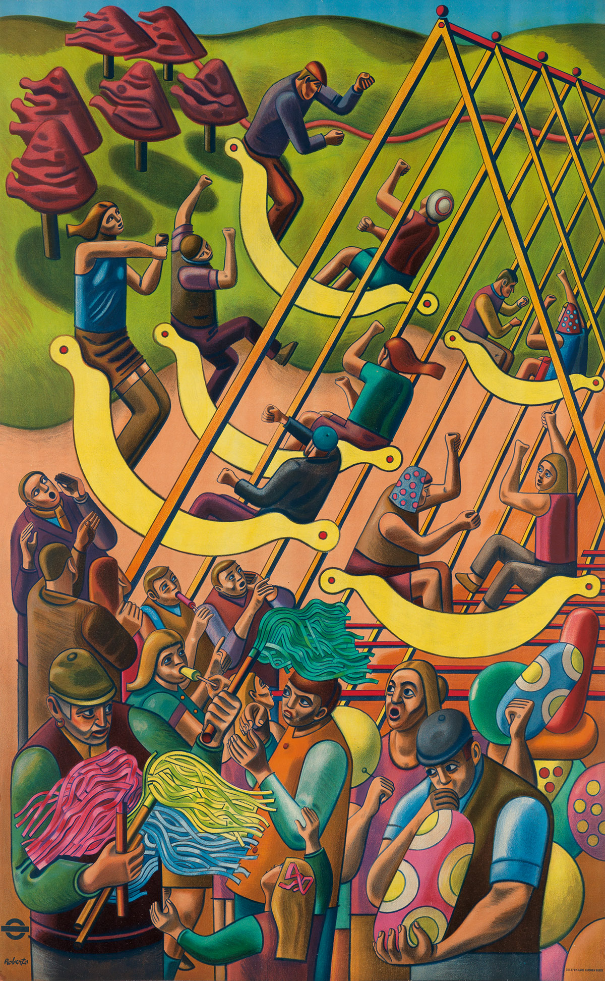 WILLIAM-ROBERTS-(1895-1980)-[LONDONS-FAIRS]-1951-40x25-inche