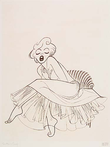 Marilyn. Etching, 17 1/2x13 1/2 inches, full margins. Printers proof, signed and annotated in pencil, lower margin. 1988.