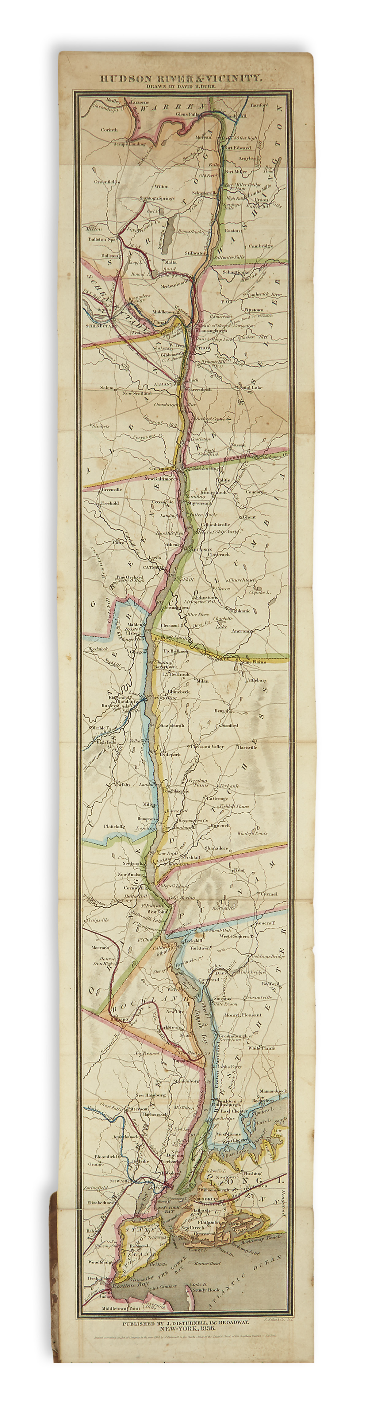 (NEW YORK.) Disturnell, John. The Travellers Guide Through the State of New-York, Canada, &