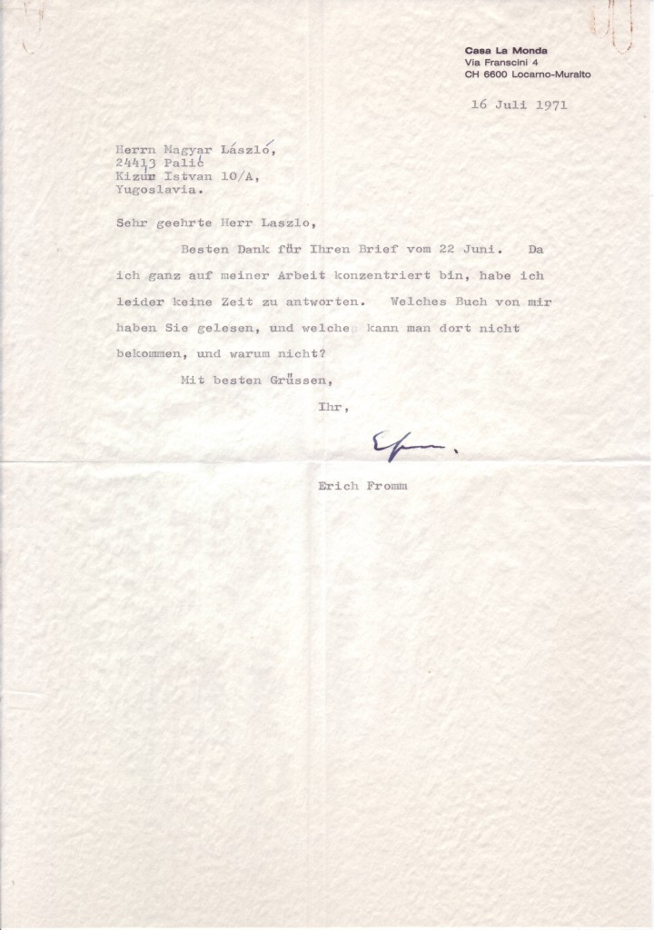 FROMM-ERICH-Typed-Letter-Signed-EFromm-to-László-Magyar-in-G