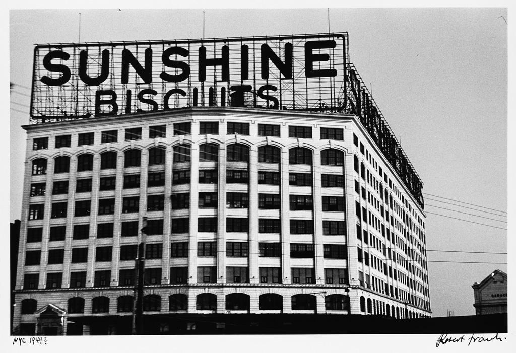 ROBERT FRANK (1924- ) Sunshine Biscuits Building, New York City.