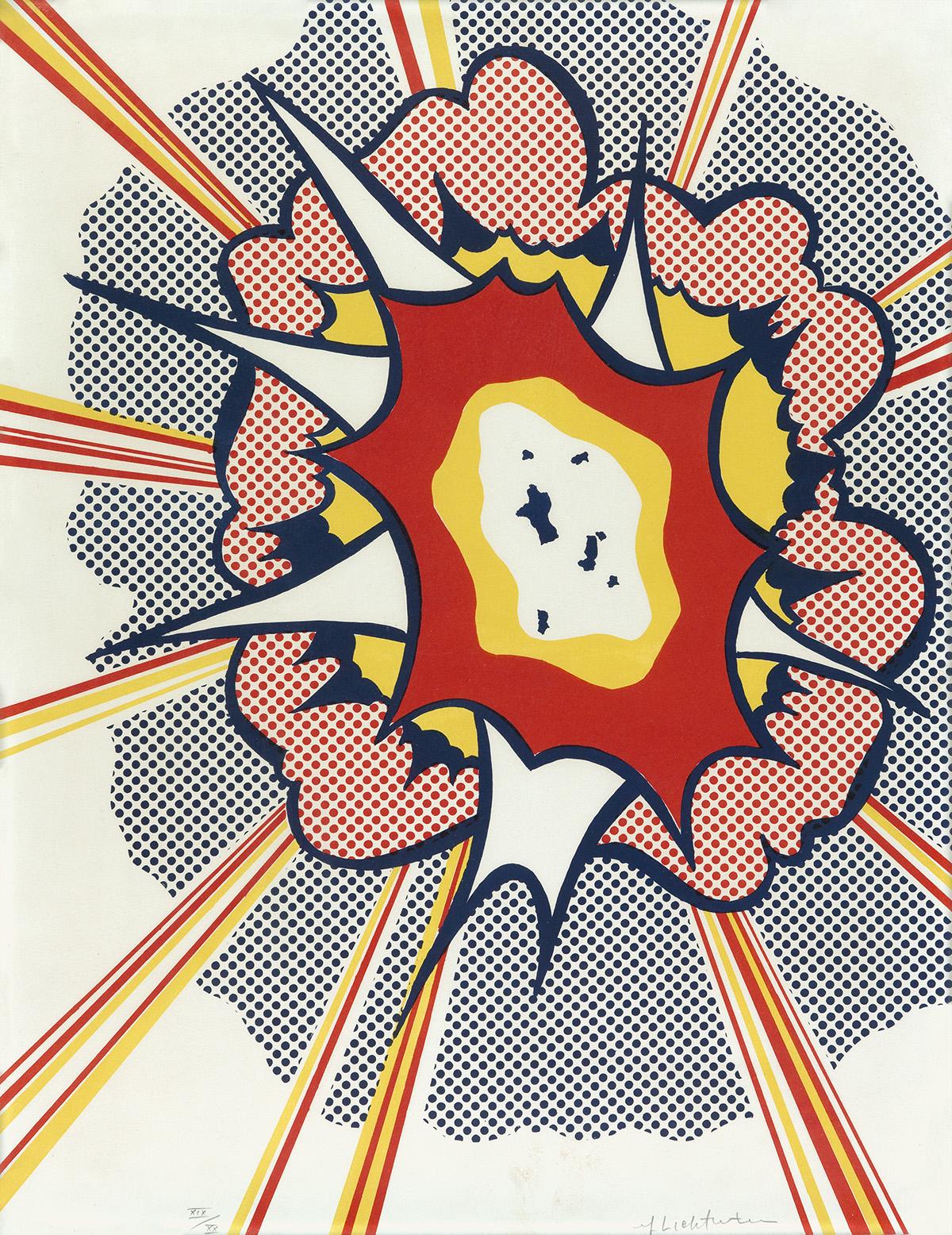 ROY LICHTENSTEIN Explosion.