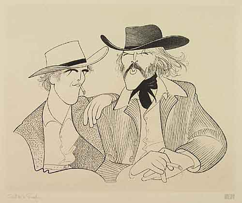 Butch Cassidy and the Sundance Kid. Etching, 14 1/2x17 3/4 inches, full margins. Printers proof, signed and annotated in pencil,