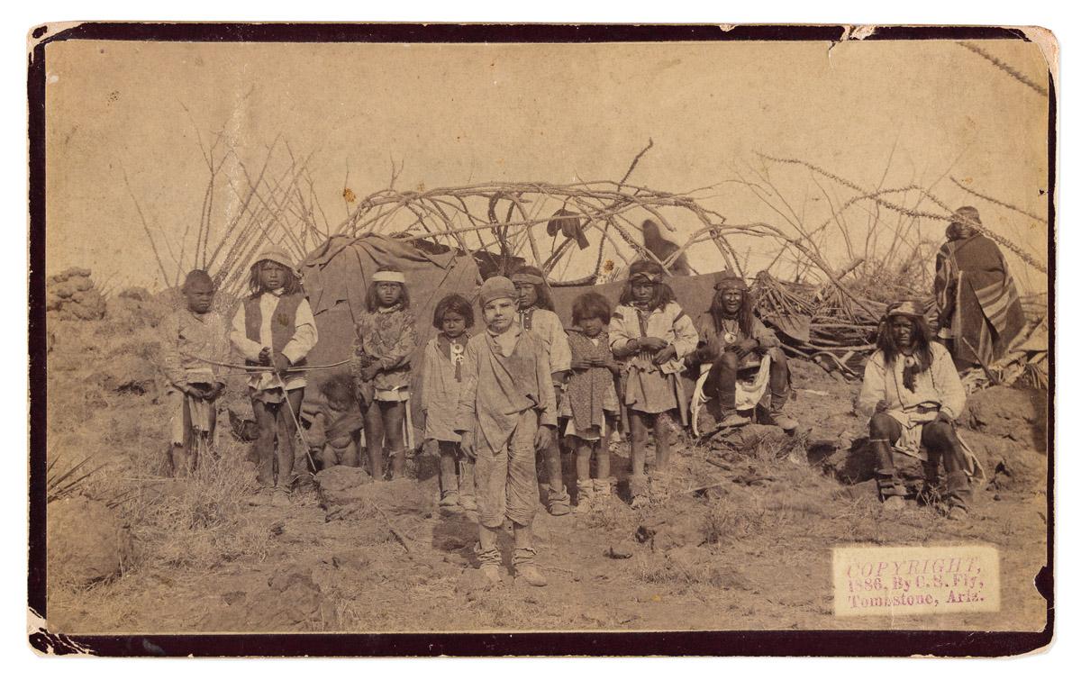 (AMERICAN INDIANS--PHOTOGRAPHS.) Camillus S. Fly, photographer. The Captive White Boy, Santiago McKinn.