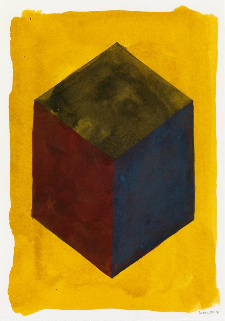SOL LEWITT Cube.