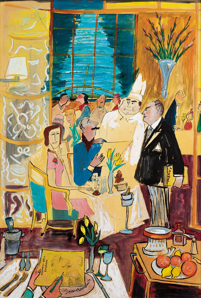 LUDWIG BEMELMANS. Verandah Grill Luncheon on the Queen Mary.