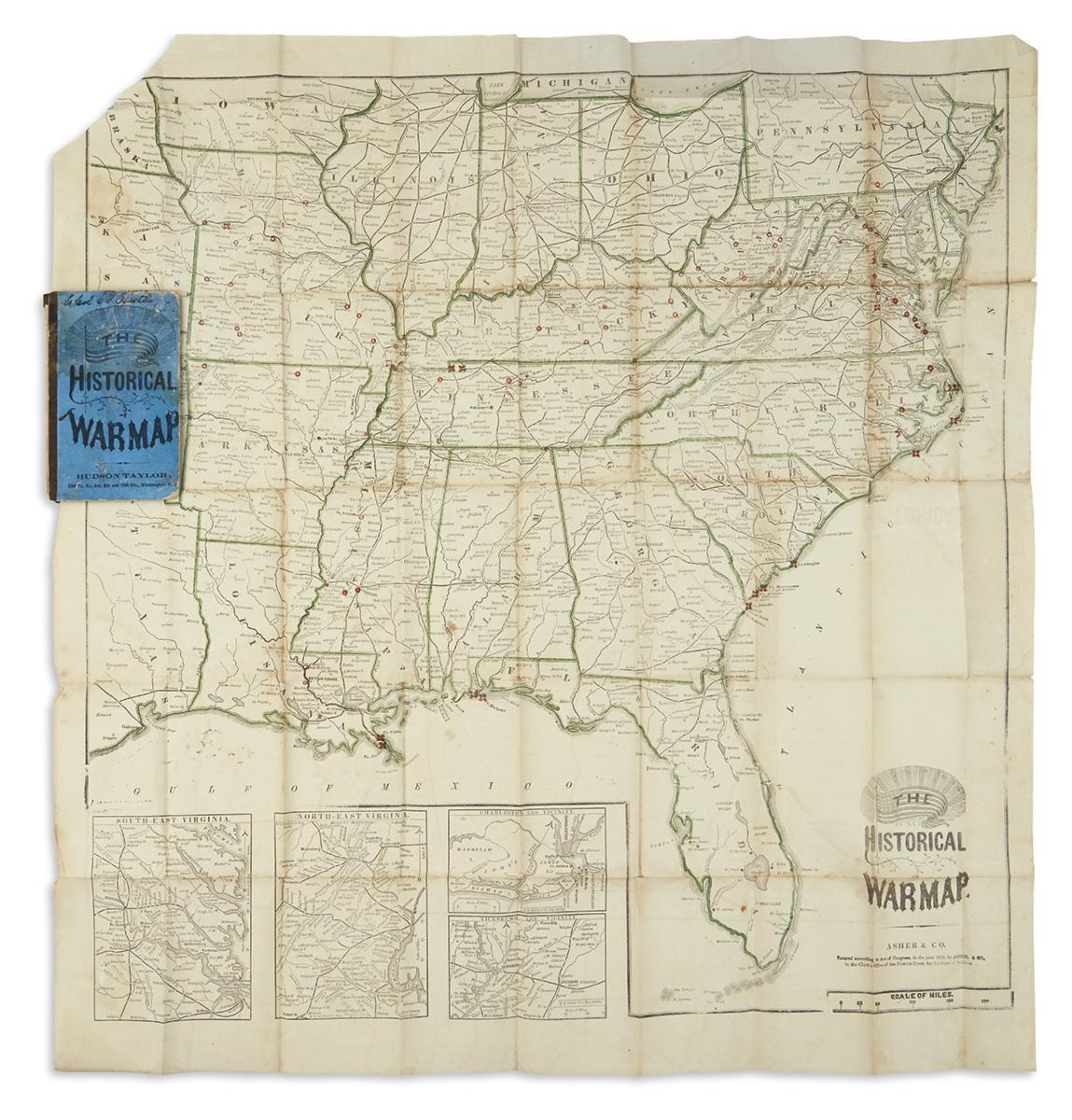 (CIVIL WAR.) Asher & Co. The Historical War Map.