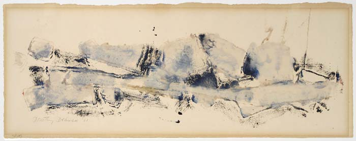 DOROTHY DEHNER Untitled (Blue and Black).