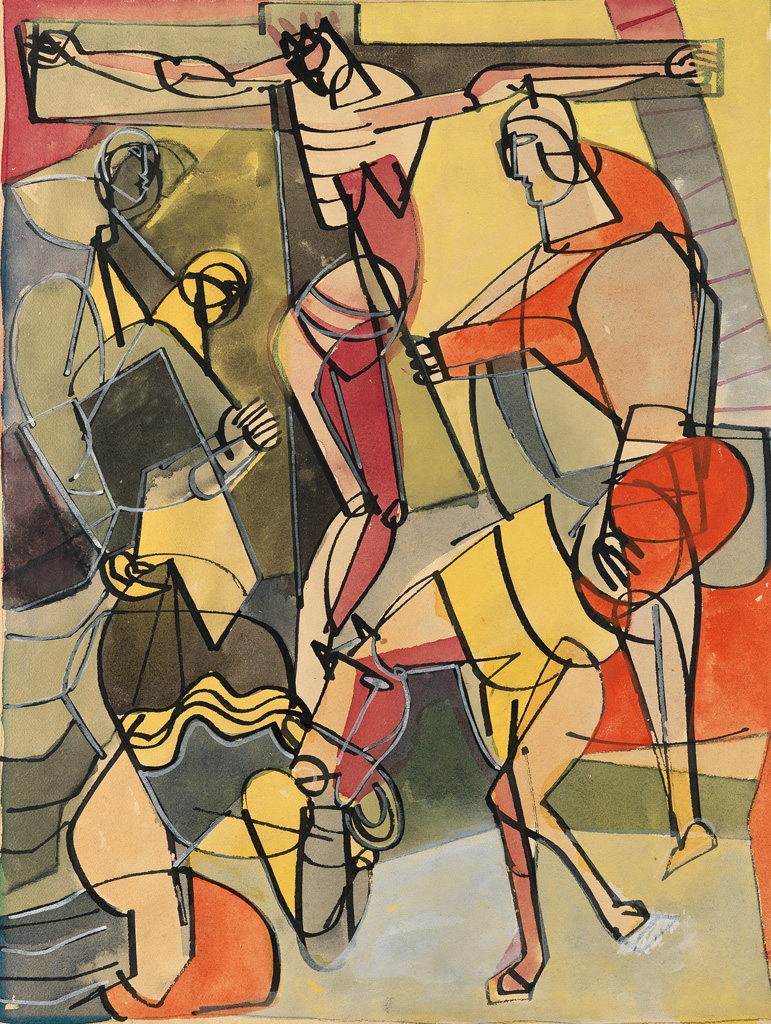 ROMARE BEARDEN (1911 - 1988) Untitled (The Passion of Christ).