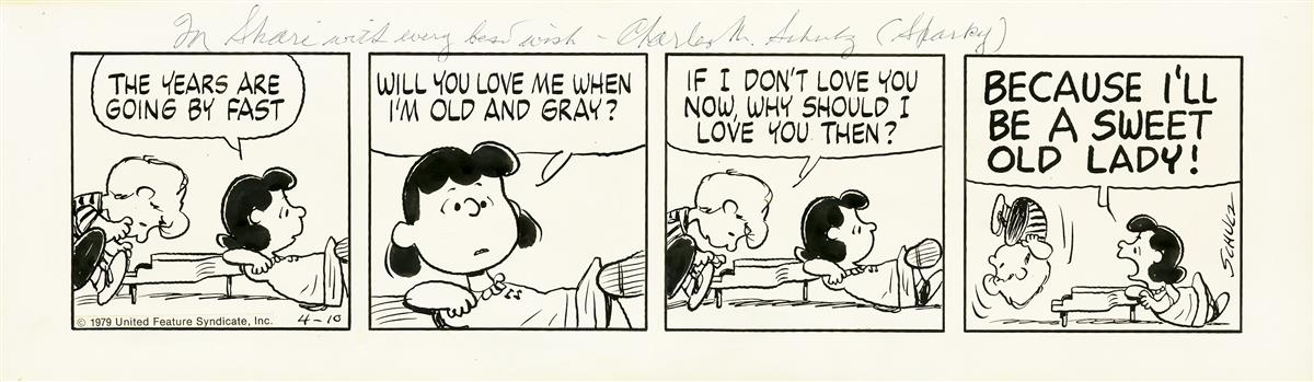 CHARLES M. SCHULZ. The Years are Going By Fast.