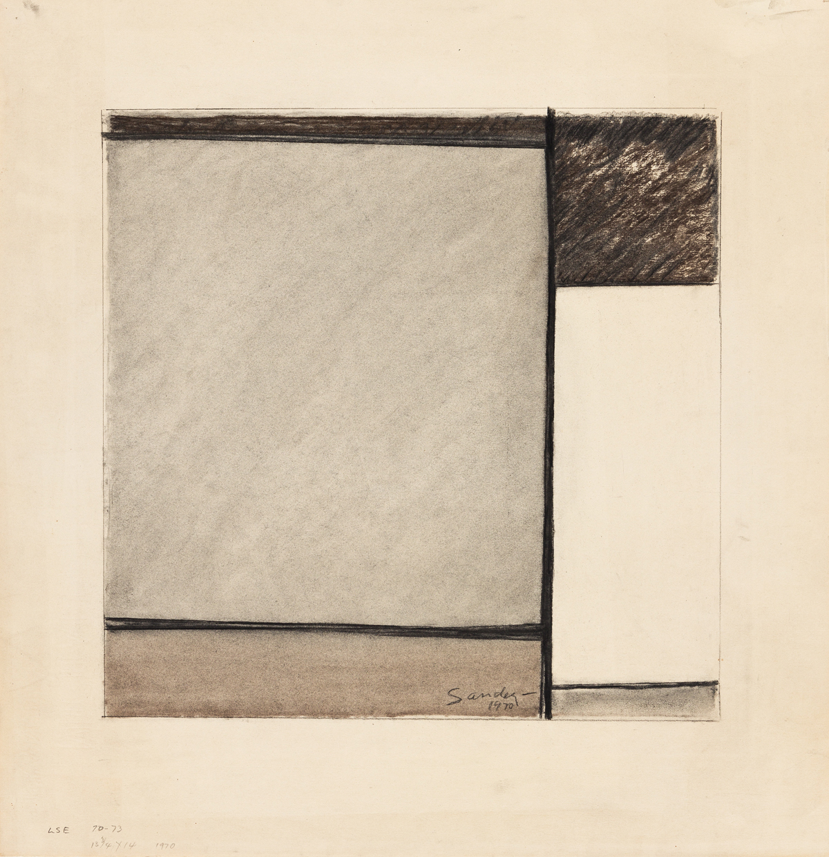 LUDWIG SANDER (1906 - 1975, AMERICAN) Untitled.