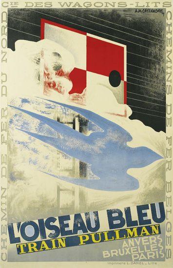 ADOLPHE-MOURON-CASSANDRE-(1901-1968)-LOISEAU-BLEU-1929-39x24