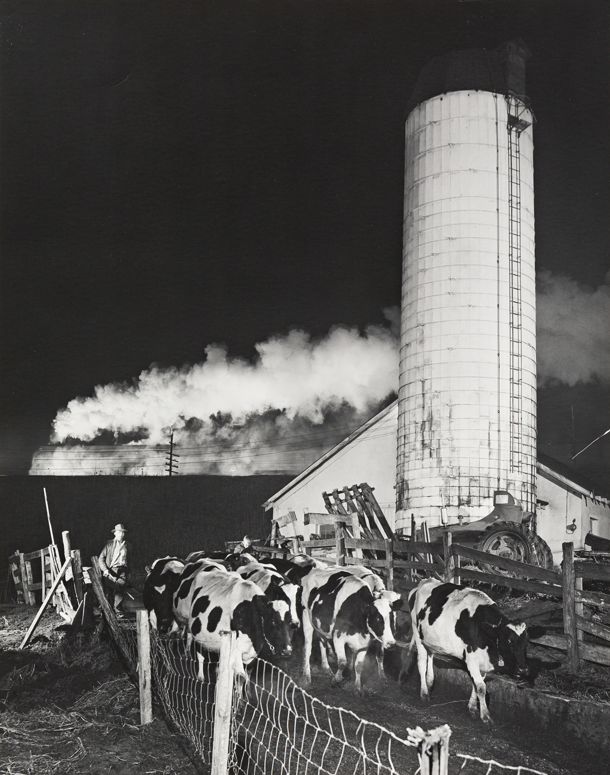 O. WINSTON LINK (1914-2001) Drivers (Drive Wheels), Bluefield Lubritorium, Bluefield, West Virginia, NW 86 * Bringing in the Cows, Trai