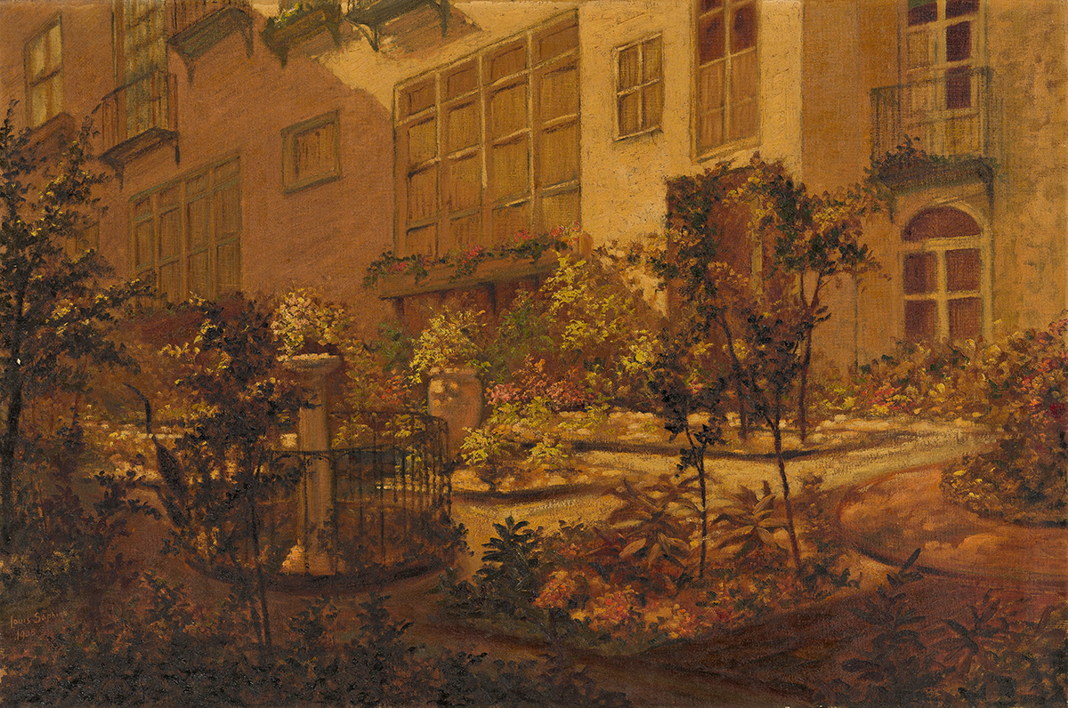 LOUIS SAPHIER View of the Garden at St. John's in the Village, New York.