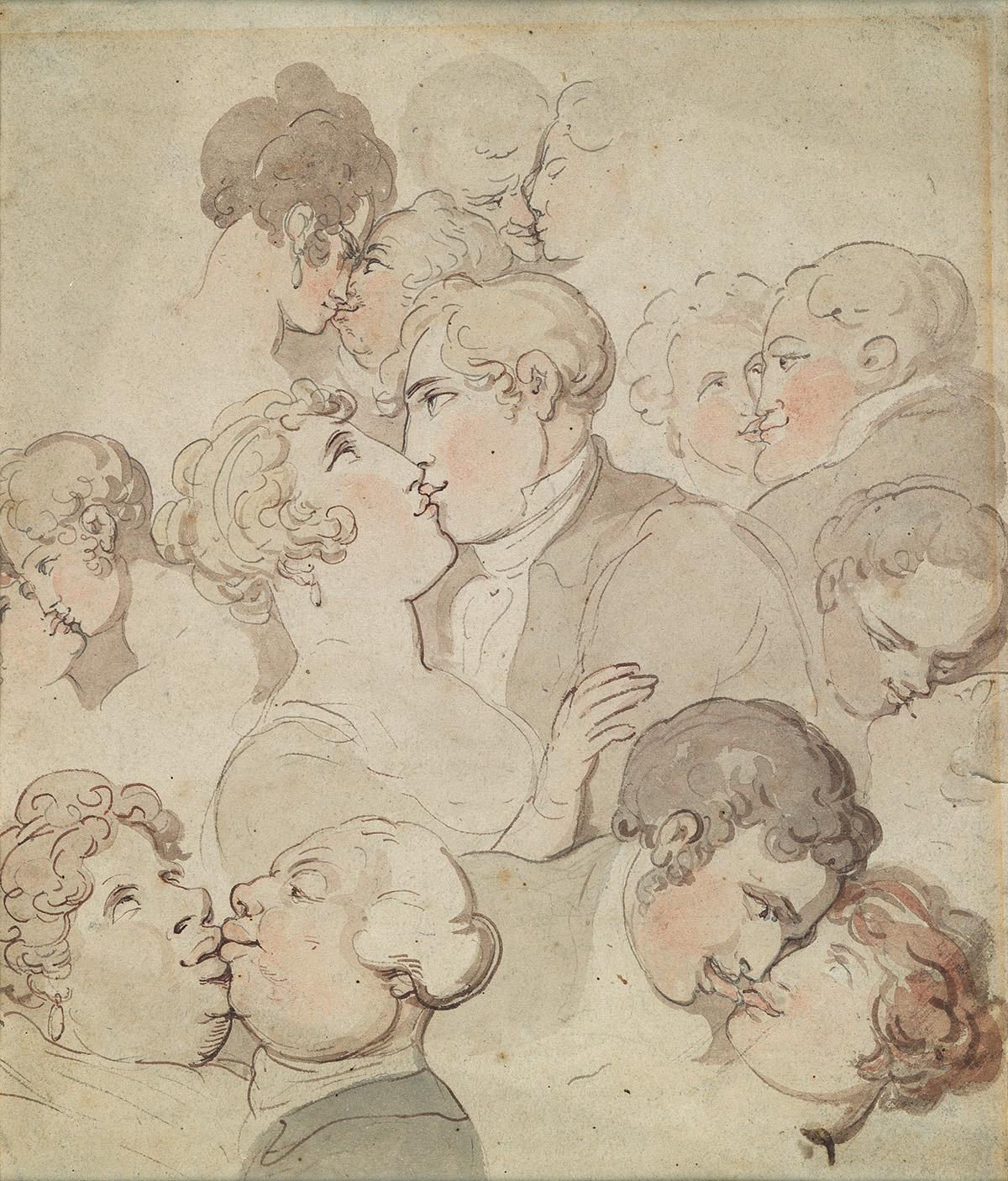 THOMAS ROWLANDSON The Art of Kissing.