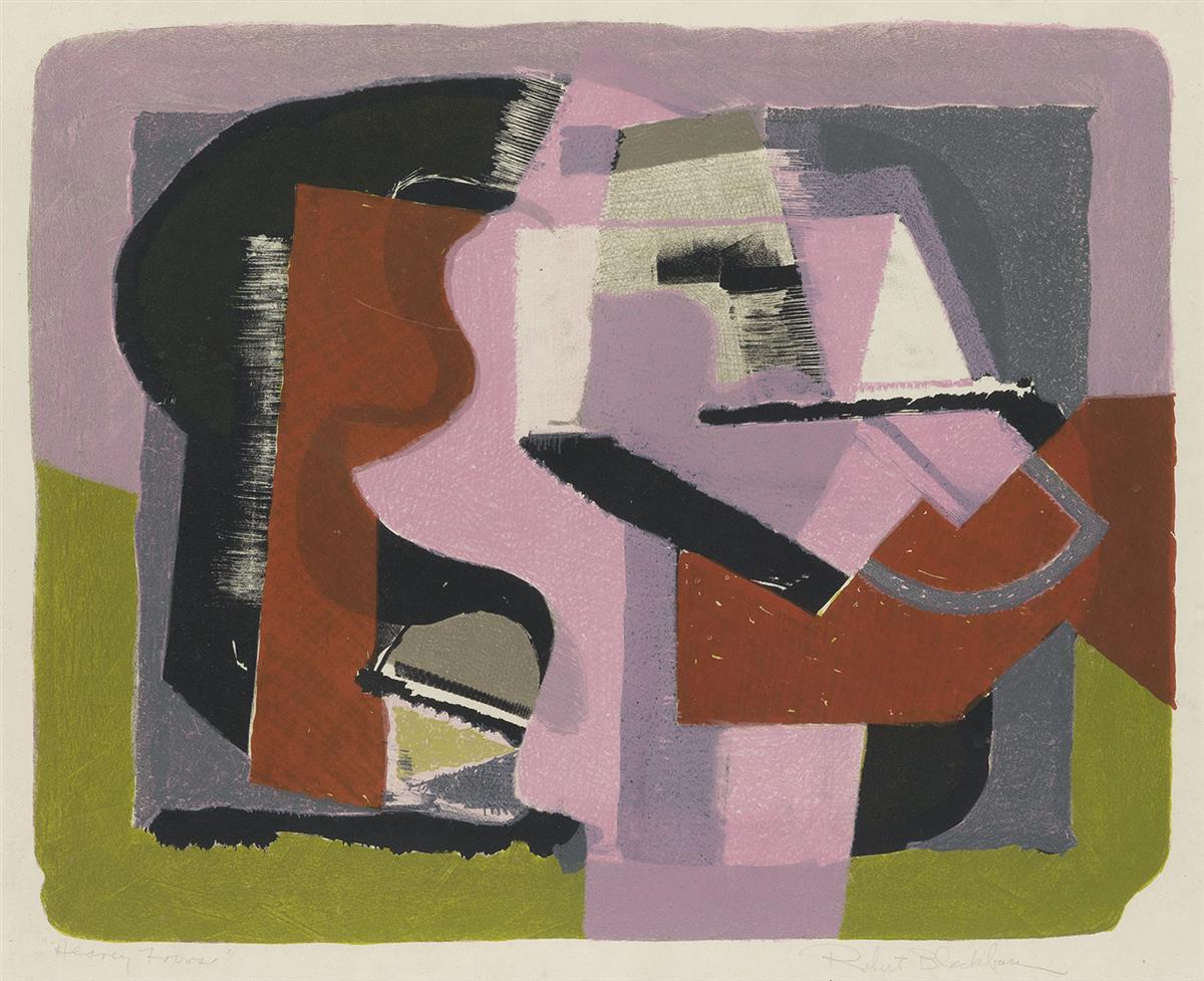 ROBERT BLACKBURN (1913 - 2003) Heavy Forms (Pink).