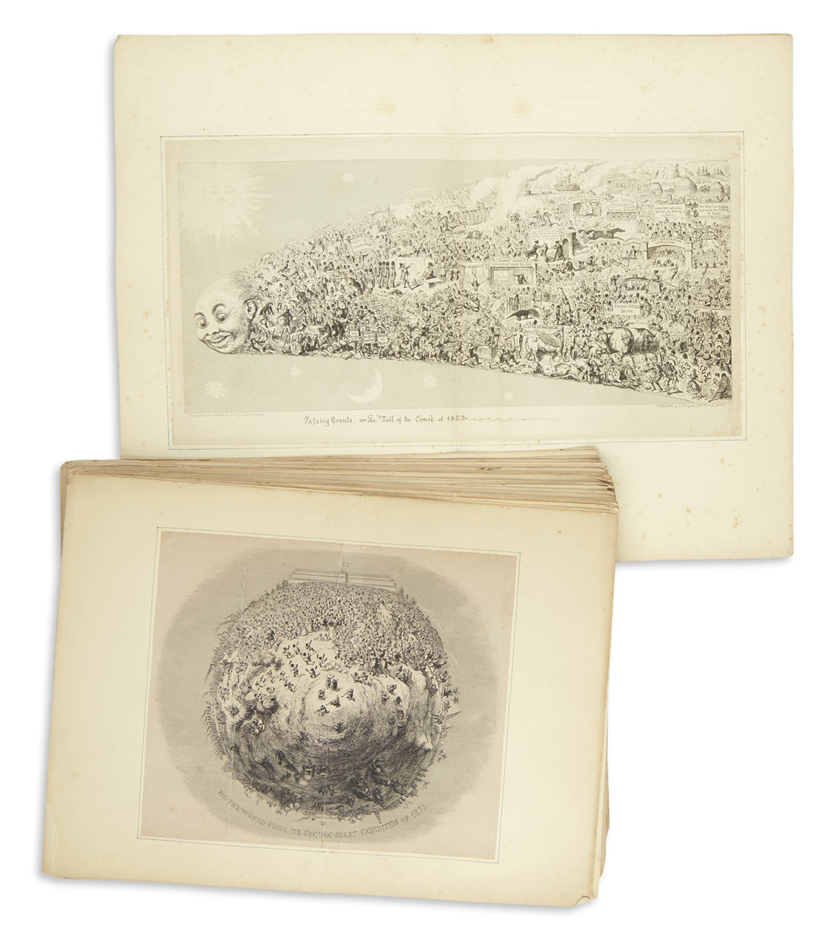 CRUIKSHANK-GEORGE-Collection-of-81-etched-or-wood-engraved-i
