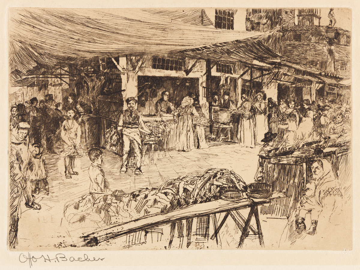 OTTO HENRY BACHER The Old Market, Florence.