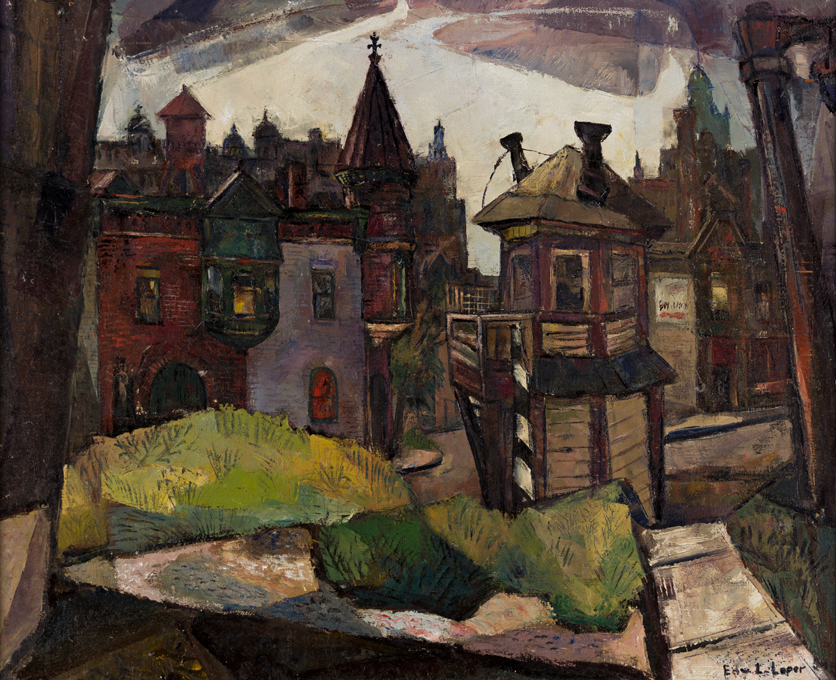 EDWARD L. LOPER, SR. (1916 - 2011) Untitled (View of Wilmington).