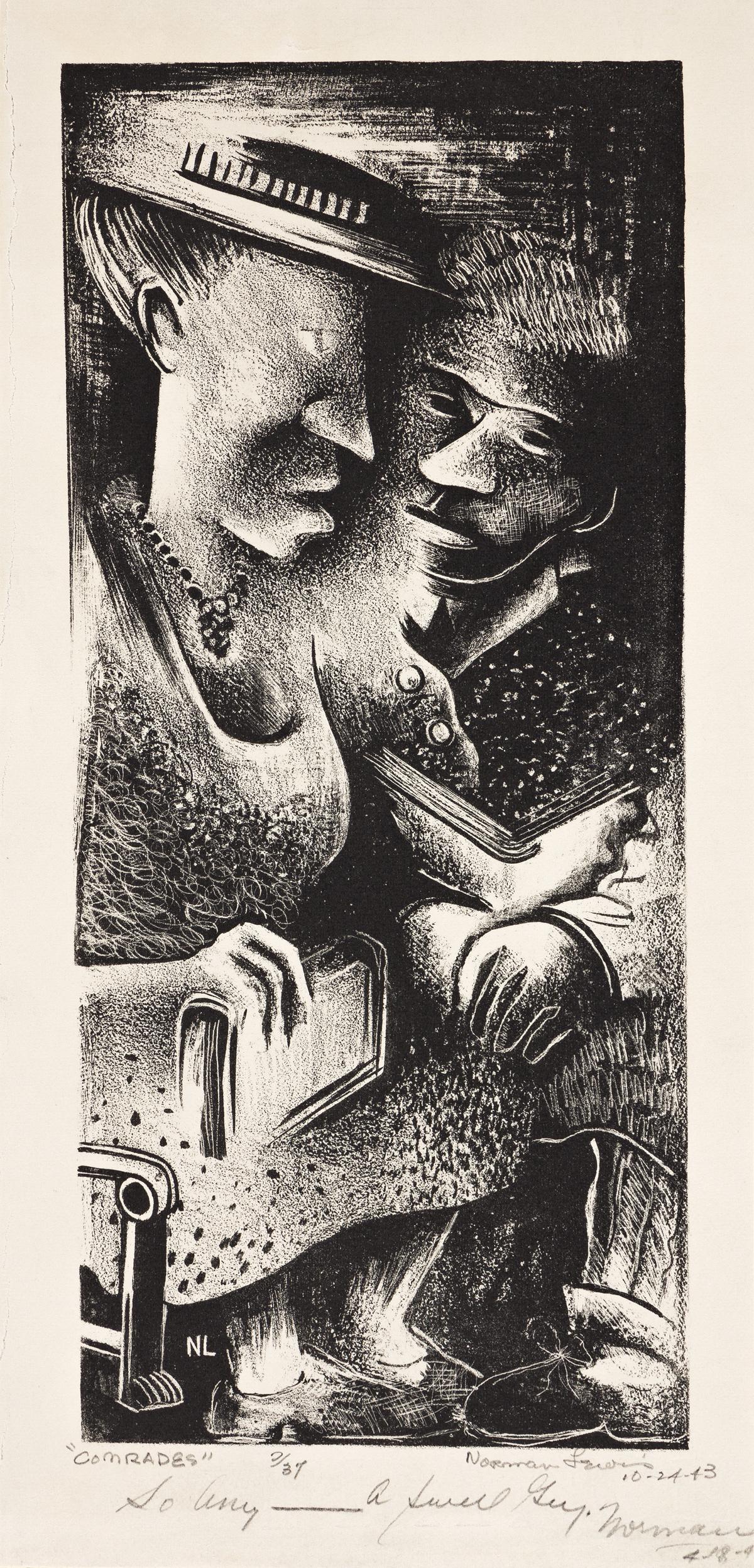 NORMAN LEWIS (1909 - 1979) Comrades.