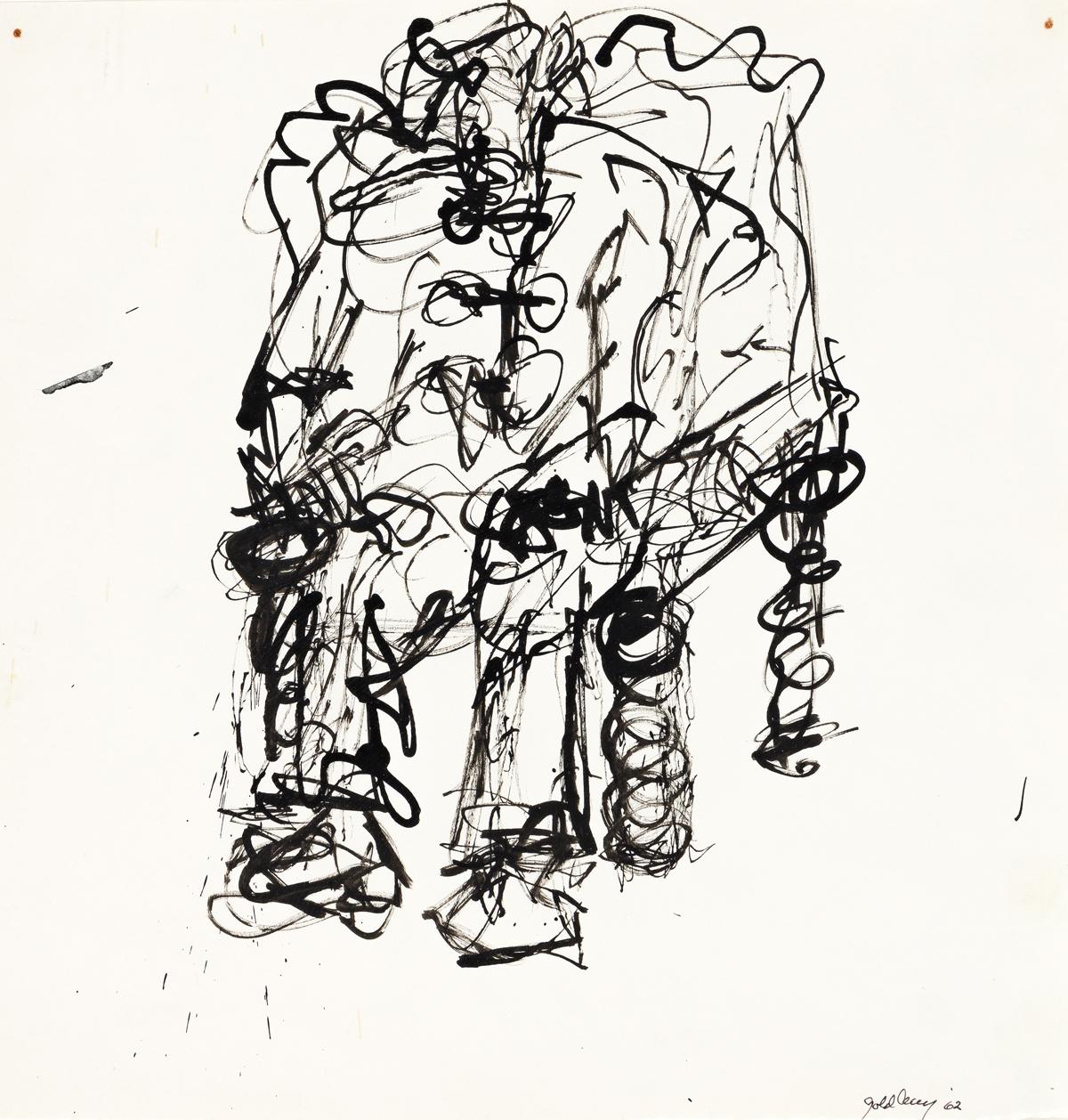 MICHAEL GOLDBERG (1924 - 2007, AMERICAN) Untitled, (MG 3).