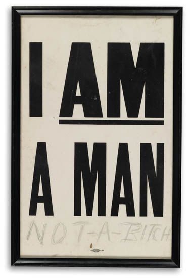 (CIVIL RIGHTS.) KING, MARTIN LUTHER JR. I AM A MAN.