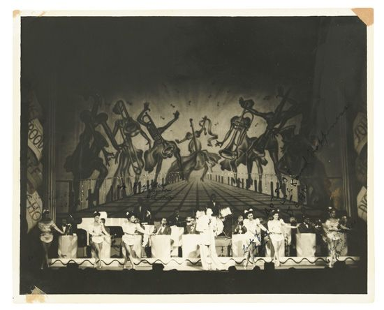 (MUSIC--HARLEM NIGHTCLUBS.) [CATHRELL, LAURIE.] Collection of photographs, programs, and ephemera from a Harlem Renaissance era chorus-