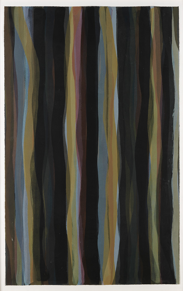 SOL LEWITT Brushstrokes in Different Colors in Two Directions, Plate #03.