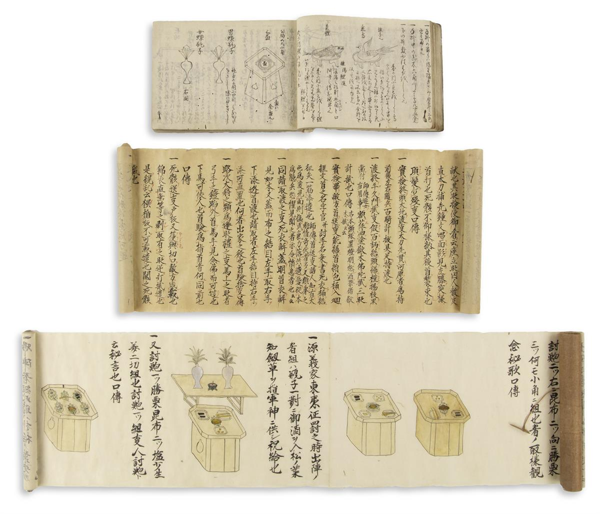 (JAPAN----COOKERY)-Group-of-manuscript-items-relating-to-foo