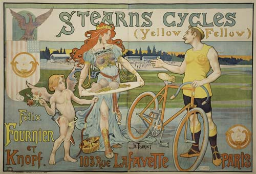 HENRI-THIRIET-(DATES-UNKNOWN)-STEARNS-CYCLES-(YELLOW-FELLOW)