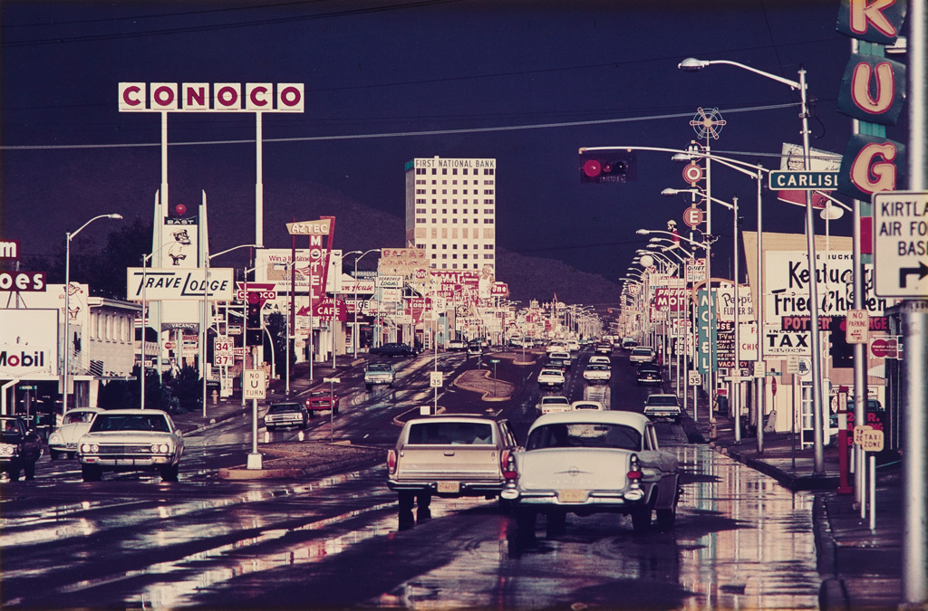 ERNST HAAS (1921-1986) Route 66, Albuquerque, New Mexico.