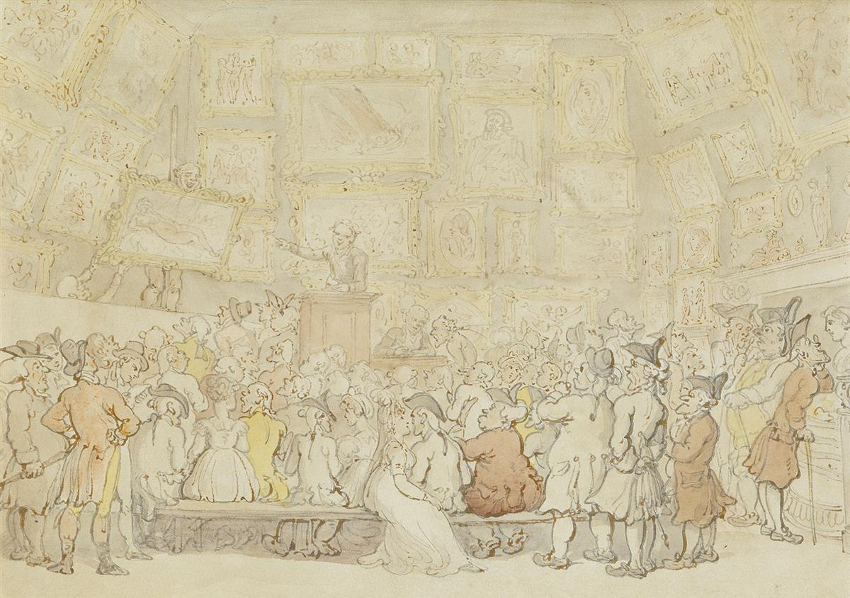 THOMAS ROWLANDSON James Christies Auction Rooms.
