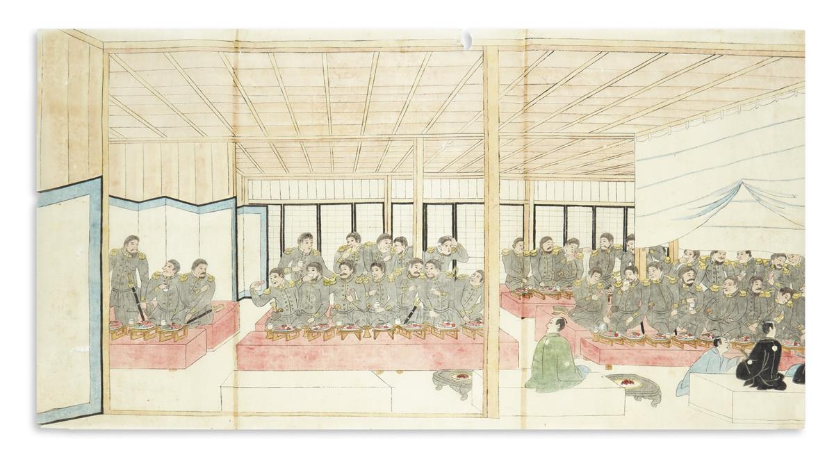 (JAPAN----PERRY)-A-sushi-banquet-for-Commodore-Perry--his-of