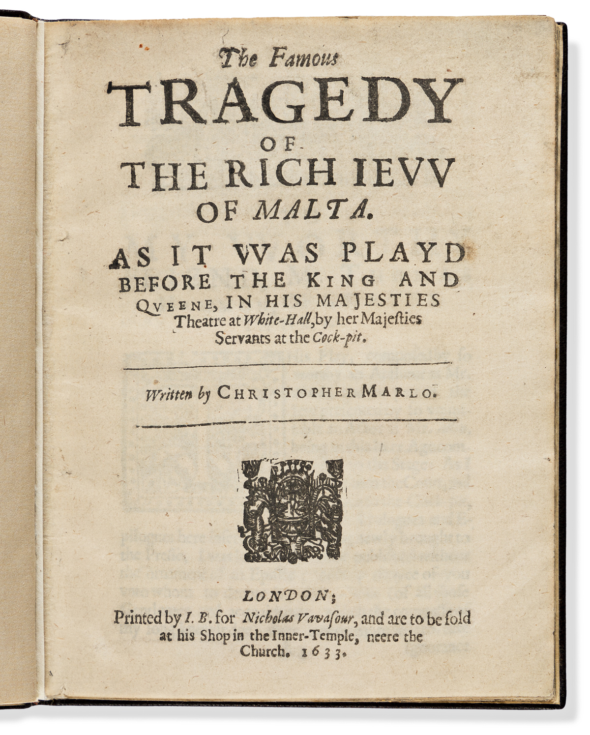Marlowe, Christopher (1564-1593) The Famous Tragedy of the Rich Jew [Ievv] of Malta.