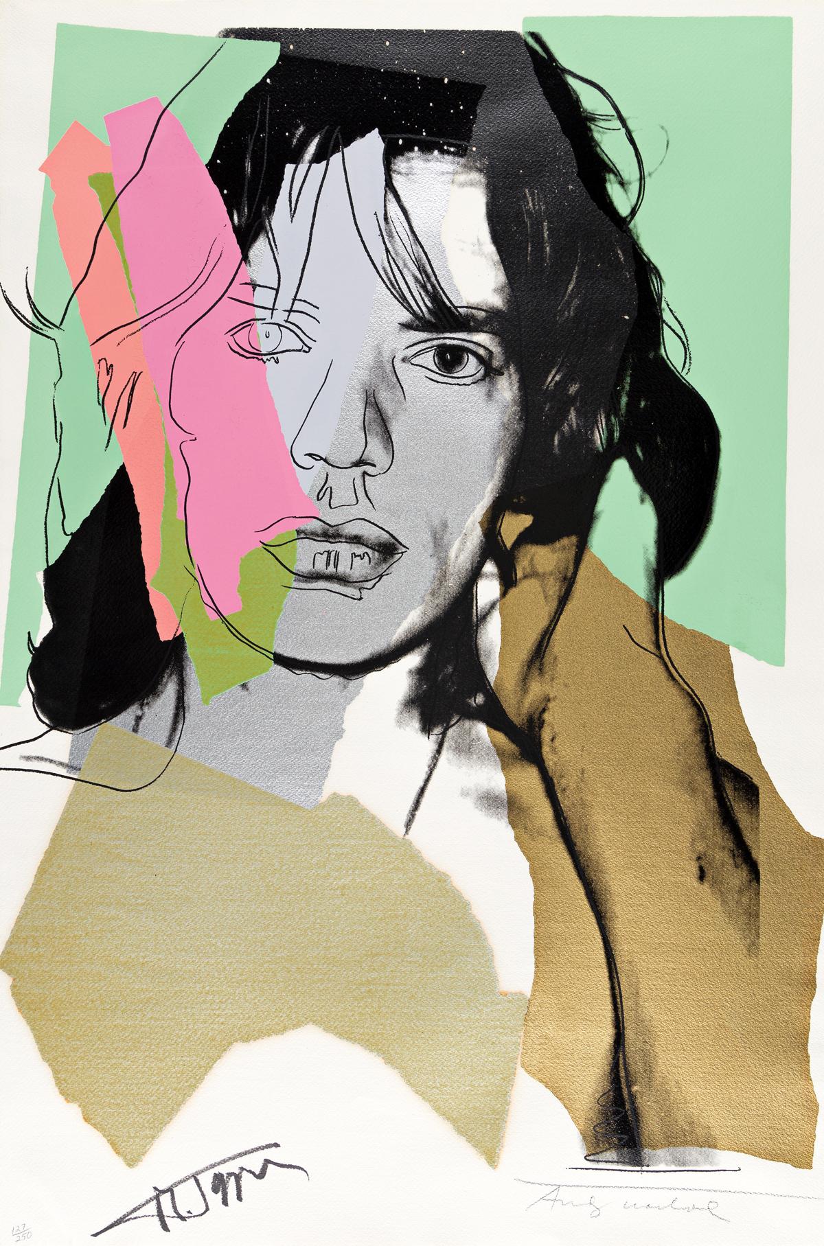 ANDY WARHOL Mick Jagger.