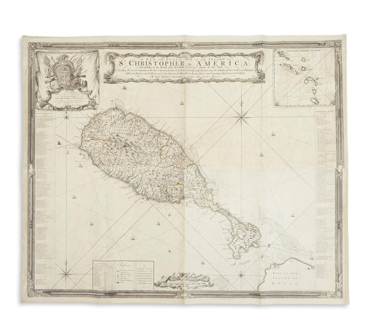 BAKER-SAMUEL-A-New-and-Exact-Map-of-the-Island-of-St-Christo
